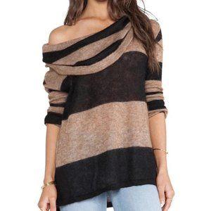 Free People Lulu Rugby Striped Alpaca Sweater L